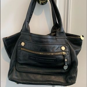 Large black and gold Marc Jacobs tote
